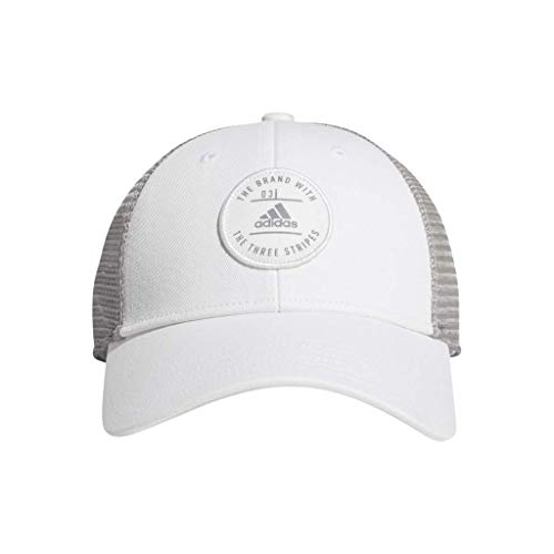 adidas Men's Reaction Structured Adjustable Cap, White/Grey, One Size