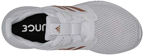 adidas Women's Edge Lux 3 Running Shoe, White/Copper Metallic/Dark Green, 5 M US