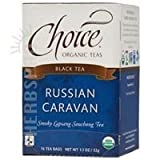 Choice Organic Teas  Black tea  Russian Caravan-Smoky Lapsang Souchong Tea,16 Tea Bags,  1.1 Oz (Pack of 6)
