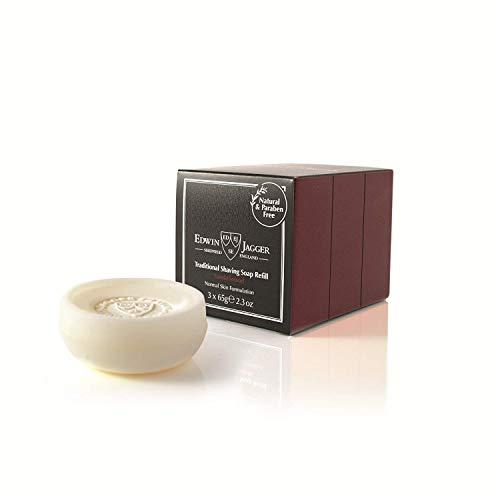 Edwin Jagger Shaving Soap Refill, Sandalwood, 3-Pack