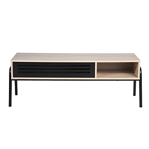 FurnitureR TV Stand Table Modern Media Console Cabinet with Storage for Home Living Room 47 inch