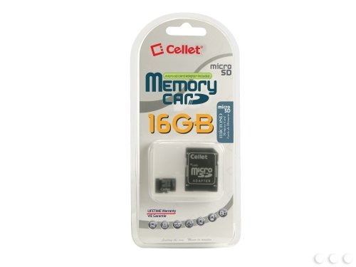 Cellet 16Gb Videocon V1855 Micro Sdhc Card Is Custom Formatted For Digital High Speed  Lossless Recording  Includes Standard Sd Adapter