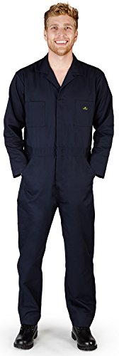 NATURAL WORKWEAR - Mens Tall Long Sleeve Basic Blended Coverall, Navy 38092-XX-LargeTall