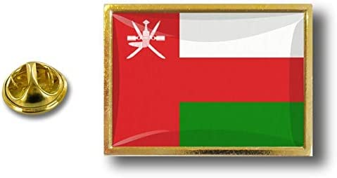 Akacha pins pin Badge pins Metal avec Pince Papillon Drapeau Oman sultana