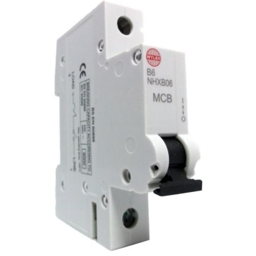 Wylex MCB - NHXB06 6 Amp 6A SP MCB Miniature Circuit Breaker - Replaces NSB06 Hager
