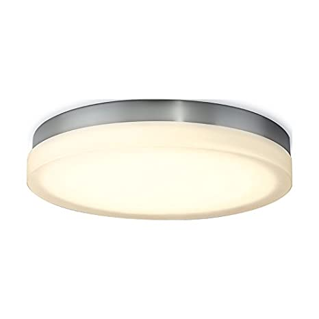 WAC Lighting FM-4111-30-BN Slice 11  Round LED Soft White Flush Mount Large Opal/Brushed Nickel - - Amazon.com  sc 1 st  Amazon.com & WAC Lighting FM-4111-30-BN Slice 11