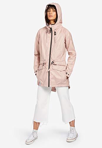 rosado Giacca Color Parka Khujo Beige Manica Donna Lunga ZwqTRd1
