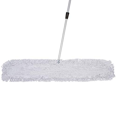 Tidy Tools 48 Inch Industrial Strength Cotton Dust Mop with Extendable Metal Telescopic Handle and Frame. 48'' X 5'' Wide Mop Head with Cut Ends by Tidy Tools (Image #2)