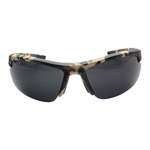 tagenvy - Camouflage Half Frame Semi-Rimless Camo Sport S...