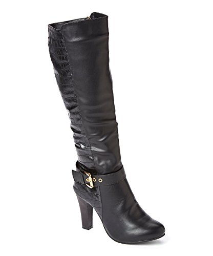 Forever Young Couture Women Tall High Heel Boots, Snake Skin, ()