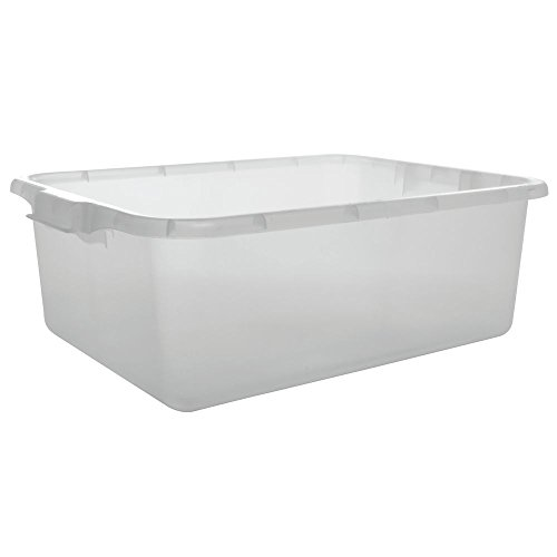 "Price comparison product image Vollrath Traex Color Mate Food Storage Box,  20""W x 15""D x 7""deep,  molded in handles,  HACCP clarified,  freezer & dishwasher safe,  polypropylene,  clear,  NSF,  Made in USA,  1527-C13"