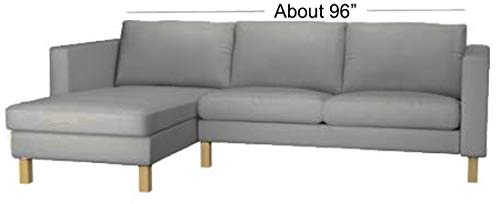 Sofa Renewal The Cotton Balkarp Cover Replacement Lighter Gray Not 170cm Or Futon Slipcover Size: 190cm Wide is Custom Made for IKEA Balkarp Sofa Bed