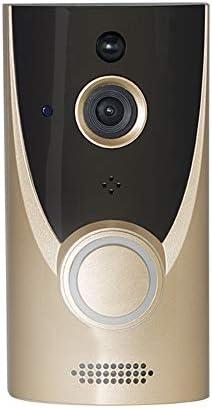 Wifiビデオスマートドアベル、HD 720P、モーション検出器付きワイヤレスドアベル、ナイトビジョン、広角166°、充電式バッテリー、防雨。