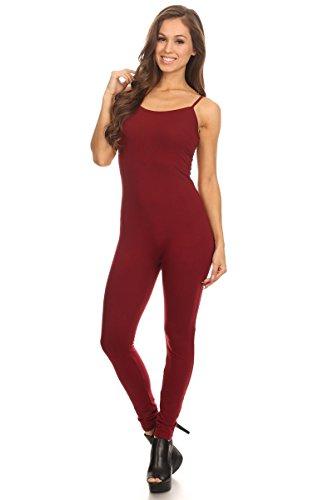 - 311X9ItNIYL - Stretch Cotton Bodysuit Women Stretch Cotton Spaghetti Full Length Romper Jumpsuits Unitard Bodysuits (&Plus)
