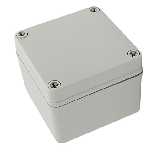 Pvc Switch Box - YXQ 100 x 100 x 75mm Electrical Project Case Junction Box IP65 Waterproof ABS DIY Power Outdoor Enclosure Gray (4 x 4 x 3 inches)