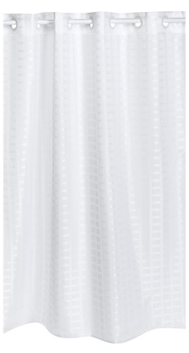Hookless Litchfield 71 By 74 Inch Fabric Shower Curtain, White