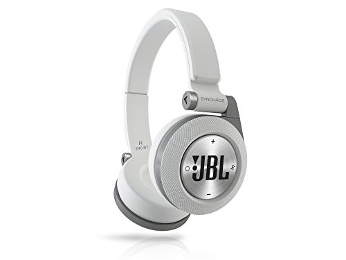 JBL E40BT White High-Performance Wireless On-Ear Bluetooth Stereo Headphone, White