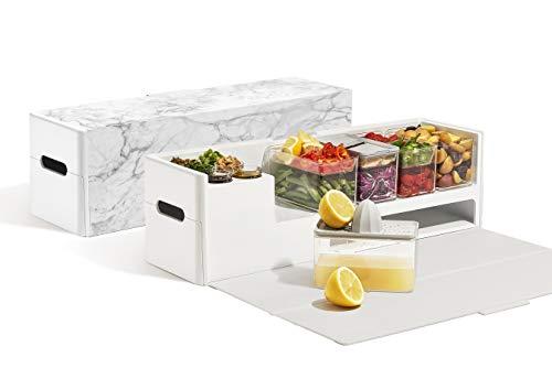 Prepdeck Meal Prep Station - Ultimate Kitchen Organizer (Glacier - Prep Station