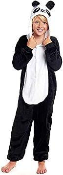 Pijamas Enteros de Animales Niñas y Niños Unisex【Tallas Infantiles 3 a 12 años】 Disfraz Oso Panda Mono Enterizo Carnaval Fiestas【Talla 7-9 años】