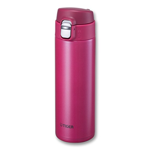 (Tiger MMJ-A048 PA Vacuum Insulated Stainless Steel Travel Mug with Flip Open Lid, Double Wall, 16 Oz, Pink)