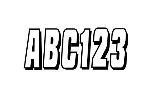 Hardline Letter Number Kit - Hardline SIBLK320 320 Series Silver/Black Marine Lettering Kit