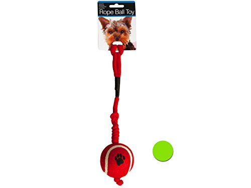 Rope Ball Dog Toy - Pack of 12 ()