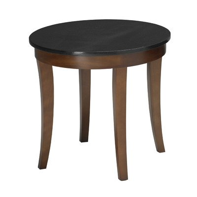 "Mayline M103RSCR Midnight Round End Table 24""W x 24""D, Bourbon Cherry Veneer"