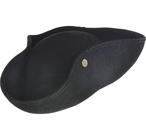 AMSCAN Black Pirate Hat Halloween Costume Accessories for Kids, One Size]()