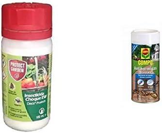 PROTECT GARDEN Decis Protech - Insecticida Polivalente Concentrado para Ornamentales, Frutales Y Horticolas, Pulgones Y Orugas, 100Ml + Compo Antihormigas, Formato Granulado para Espolvorear, 300 G