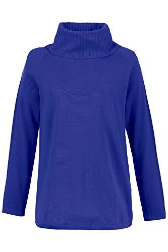 Ulla Popken Women's Plus Size Ribbed Turtleneck Sweater Indigo 12/14 701715 -