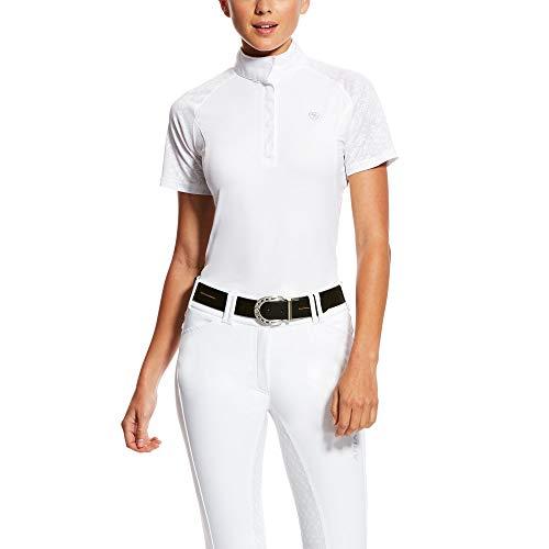 ARIAT Women's Marquis Vent Show Ss Shirt White Volte Size Medium