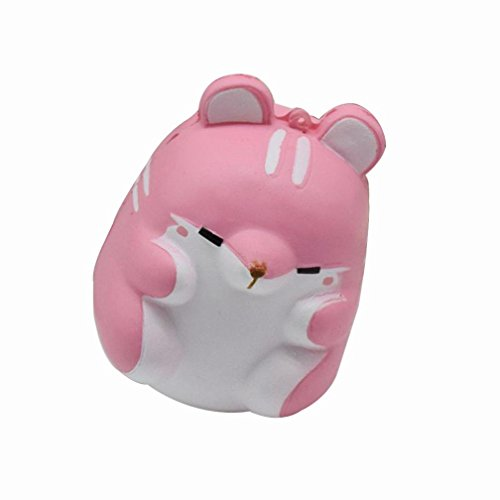 [Vovotrade 1PC Funny Hamster Squishy Decor Slow Rising Kid Toy Squeeze Relieve Anxiet Gift (Pink)] (Spike The Rabbit Costume)