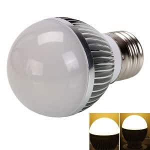 E27 3W 3 LED 290 Lumen 3000K High-power Warm White LED Light Bulb (85-265V)