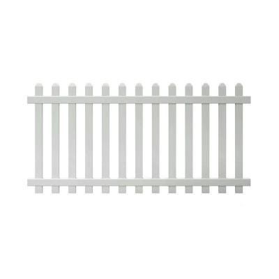 4 Ft X 8 Ft Vinyl Glendale Spaced Picket Fence Panel With Dog Ear Pickets Unassembled