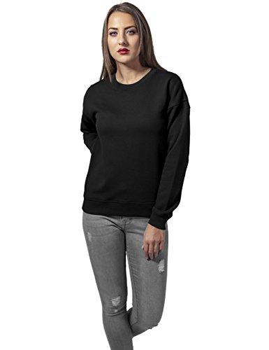 Urban Classics Jersey Mujer Cuello Redondo Sudadera mujer Negro Negro (Black 7)