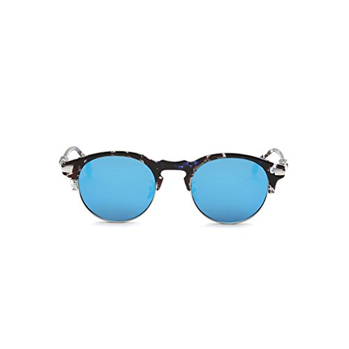 Gafas Mismo Gafas Sol Sol Sol de Women Driving Men Párrafo de Round Mirror Gafas Retro Bright and Fashion Color de B B rTTq4E