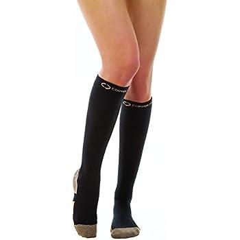 31896f644 Amazon.com  Copper Compression Socks for Women Men (White) Medical ...