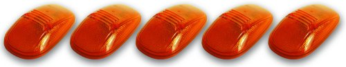 Pacer Performance 20-245 Hi-Five Amber Dodge Style Cab Roof Light Kit, (Pack of 5)