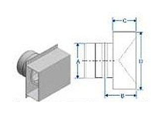 DuraVent FSTB4 Termination Box for 4 Inch FasNSeal Vent Pipe From the FasNSeal Series