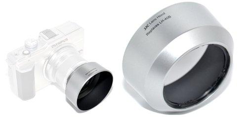 JJC LH-J40B Black Lens Hood For Olympus M.Zuiko Digital 45mm 1:1.8 Lens Black by JJC