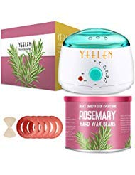 Yeelen Wax Warmer Hair Removal Waxing Kit Wax Melts 3 Hard Wax Beans(21.16oz) 10 Wax Applicator Sticks All Body, Fac...