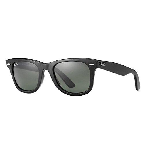 Ray Ban RB2140F 901S 52 Matte Black Wayfarer Sunglasses Bundle-2 Items