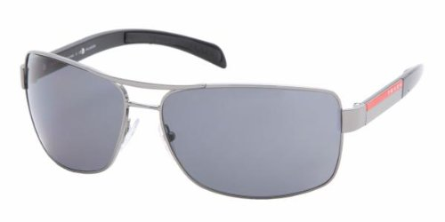 Prada Sport PS54IS Sunglasses-5AV/5Z1 Gunmetal (Polarized Gray Lens)-65mm by Prada