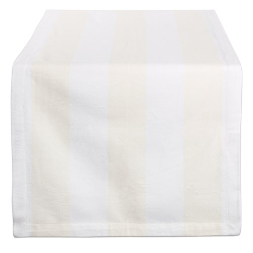 (DII Cream & White/18x72 Table Runner,)