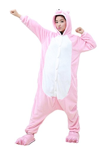 [QinYing Cartoon Sleepsuit Adult Casual Pajamas Party Cute Pink Pig Cosplay Costumes] (Alvin And The Chipmunks Costumes For Kids)
