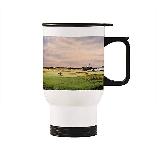 Funny Birthday Christmas Gift Cup Turnberry Golf Course 12Th TeeStainless Steel Travel Mugs - 14oz, White ()