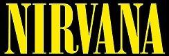 NIRVANA ROCK BAND SYMBOL 8' DECORATIVE DIE CUT DECAL - YELLOW