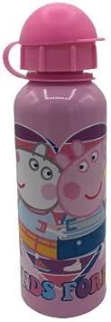 ML Botella de Agua de Aluminio, cantimplora térmica a Prueba de Fugas sin BPA para Levar a la Escuela y Deportes el Termo 500ml para niños y niñas Rosa