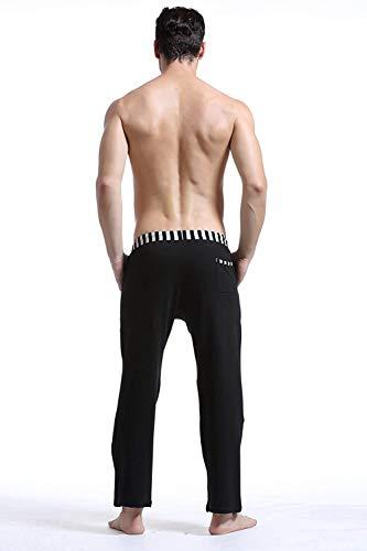 Estate Pantaloni Lunghi Sportivi Solido Pigiama Tempo Libero Il Slim Schwarz Workout Sportivo Allenamento Primavera Per Giovane Da Colore Uomo wvvqydXr