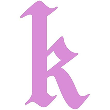 Amazon Com Set Of 3 Letter K Style 15 Decal Sticker Color Pink